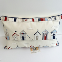 Beach Huts  Bunting Cushion Cover