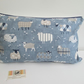 Blue Sheep  Cushion Cover