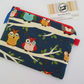 SALE  Owls Pencil Case or make up bag