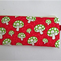 SALE Mushrooms Make Up Bag  Pencil Case