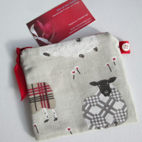 Red Sheep  Coin Purse