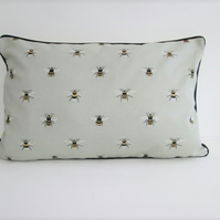 Sophie Allport Bees  Cushion Cover with Black Piping
