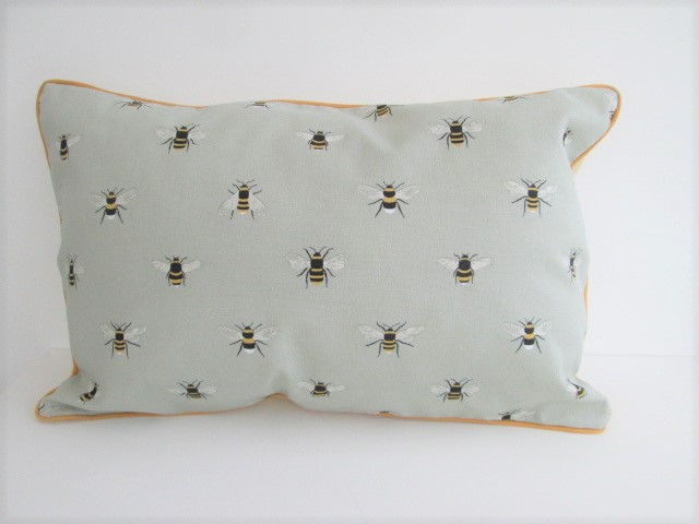 Sophie Allport Bees  Cushion with Mustard Piping