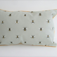 Sophie Allport Bees  Cushion Cover with Mustard Piping