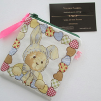 SALE Bears and Rabbits  Purse