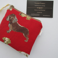 Red Dogs  Coin Purse