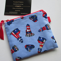 SALE Nautical Coin Purse