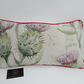 Voyage Thistle Glen Spring Fabric Cushion With Pink Piping