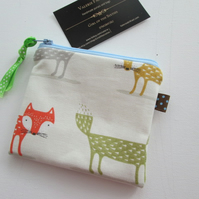 SALE Foxes  Coin Purse