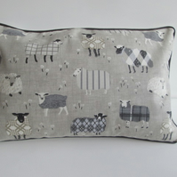 Charcoal Sheep Cushion