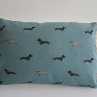 Sophie Allport Dachshunds  Cushion with Cream Bobbles