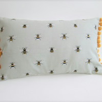 Sophie Allport Bees  Cushion with Mustard Bobbles