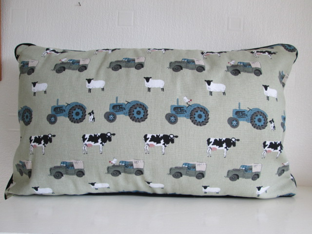 Sophie Allport Farm Cushion with Black Piping