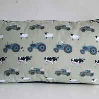Sophie Allport Farm Cushion Cover with Black Piping