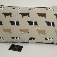 Sophie Allport  Cows Cushion with Black Piping