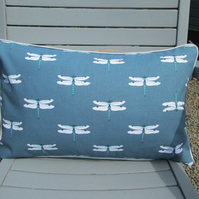 Sophie Allport Dragonfly  Cushion with Grey Piping