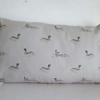 Sophie Allport Hares   Cushion with Cream  Bobbles