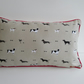 Sophie Allport Dogs Cushion Cover with Red Piping