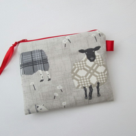Grey Sheep  Coin Purse