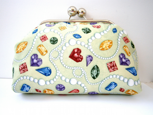 HALF PRICE SALE Jewels and Pearls Clutch Bag