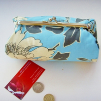 SALE Amy Butler Tree Peony Clutch Bag  Make up Purse