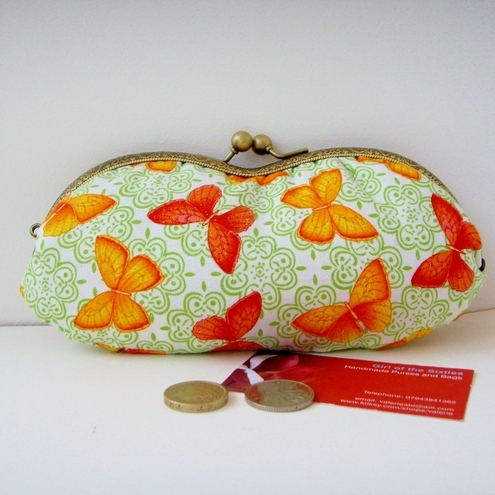 Moda Butterflies  Purse Glasses case
