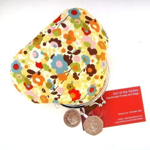 HALF PRICE TODAY Moda Wonderland Fabric Credit Card/Coin Purse