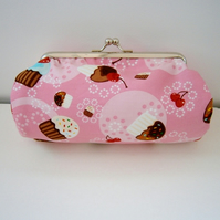 Pretty Cupcakes  Clutch Bag  Make up Purse