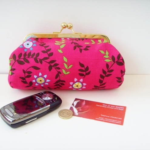 Pretty Pink Clutch Bag / Make up Purse
