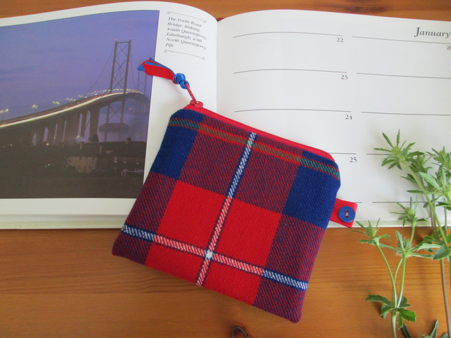 SALE Blue Galloway Tartan Purse