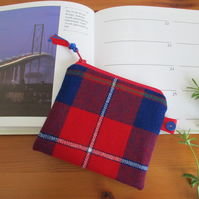 Blue Galloway Tartan Purse