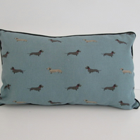 Sophie Allport Dachshunds  Cushion Cover with Black Piping