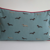Sophie Allport Dachshunds  Cushion Cover with Red Piping