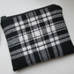 SALE  Black wool Check  Coin Purse