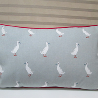 Sophie Allport Ducks Cushion Cover with Red Piping