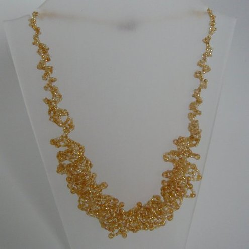 Seed Beed Swirly Necklace - free UK p&p