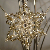 Christmas Ornament with Freshwater Pearls