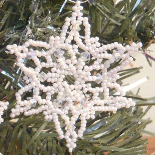 Hand Woven Seed Bead Christmas Decoration