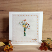 Autumn colours bouquet card