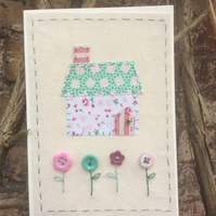 Little Stitched Cottage Card