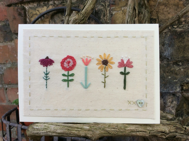 Little flower garden card
