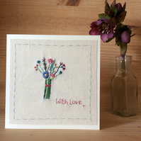 Little bouquet with love card