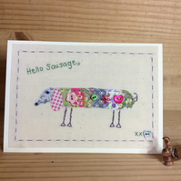 Hello Sausage card