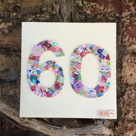 60th patchwork birthday card