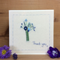 Little hand stitched bouquet thank you card