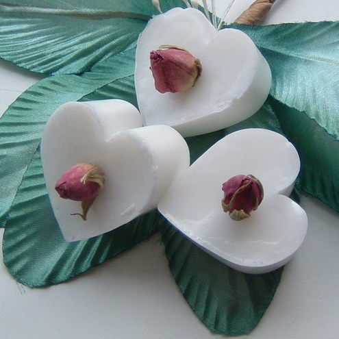 English Rose Heart Shaped Wedding Favour Soaps