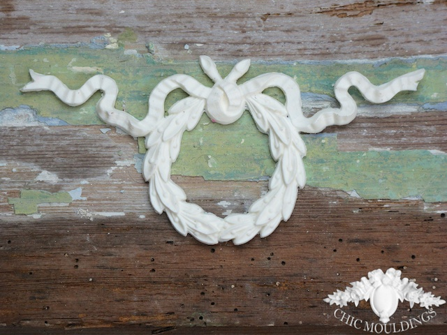 Shabby chic wreath furniture applique dyi free by antique chic