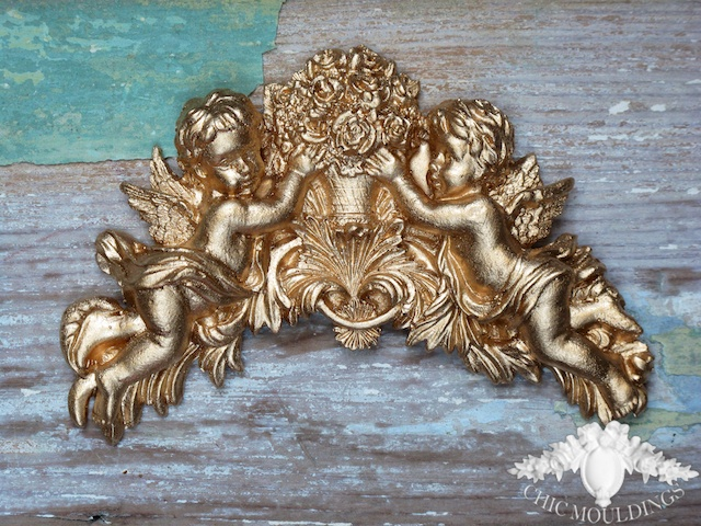Shabby chic mouldings furniture appliques mirro folksy