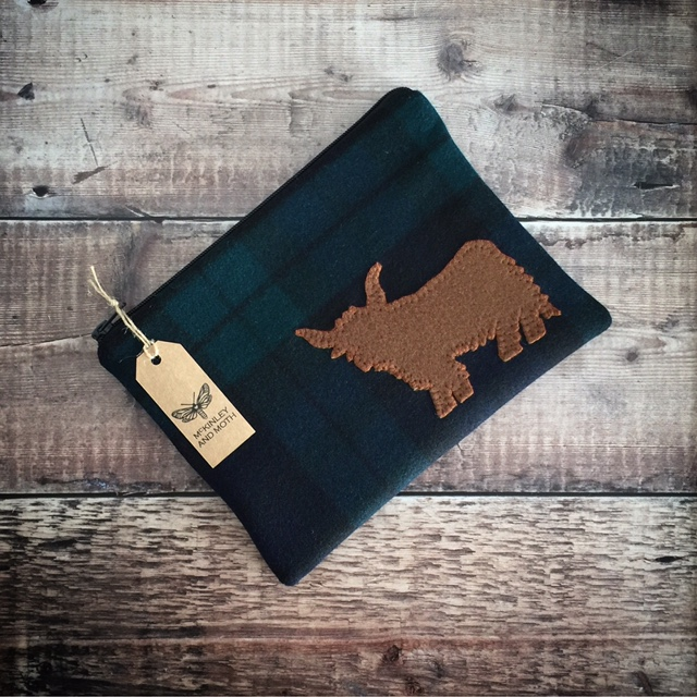 Highland Cow Mini iPad Bag