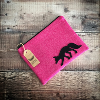 Fox On Cerise Pink Mini iPad Bag